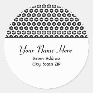 Etiqueta preto e branco da etiqueta de endereço adesivo