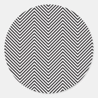 Etiqueta preto e branco de Chevron Adesivo