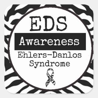 Etiqueta preto e branco do EDS da síndrome de