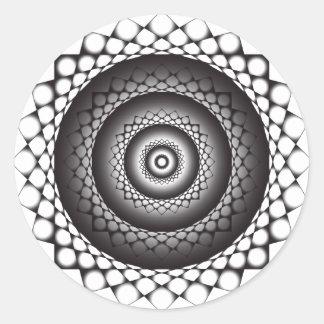 etiqueta preto e branco do wormhole adesivo