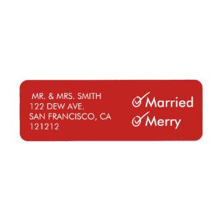 Etiqueta Primeiro Natal casado e da feliz | do Newlywed |