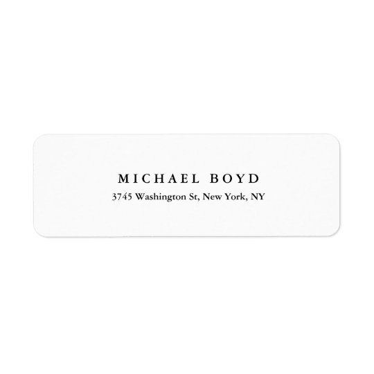 Etiqueta Profissional clássico preto & branco criativo
