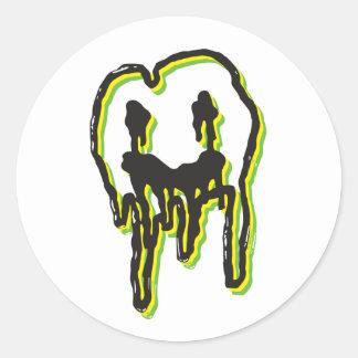 Etiqueta psicadélico do logotipo: Limão-Limão