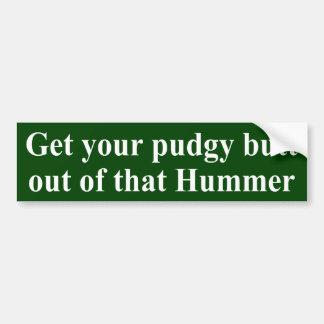 Etiqueta Pudgy de Hummer do bumbum Adesivo Para Carro
