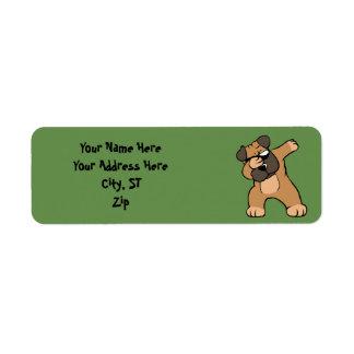 Etiqueta Pug de toque ligeiro engraçado