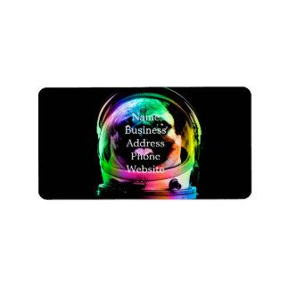 Etiqueta Pug do astronauta - pug da galáxia - espaço do pug
