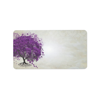 Etiqueta Purple Heart lunático folheou árvore