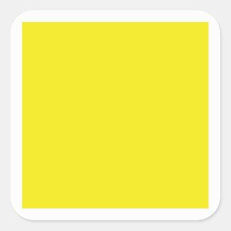 Etiqueta quadrada amarela