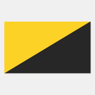 Etiqueta quadrada capitalista de Anarcho Adesivo Retangular