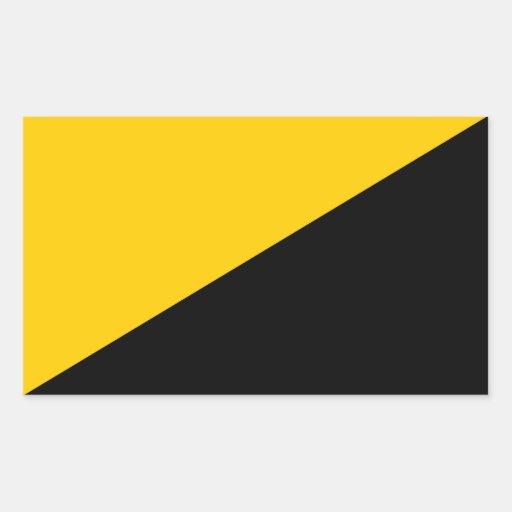Etiqueta quadrada capitalista de Anarcho Adesivos Retangular