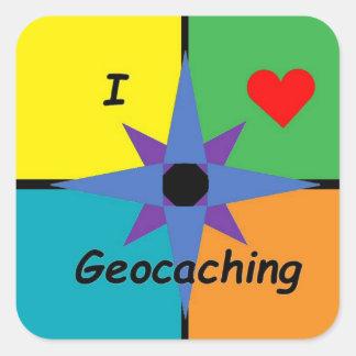 Etiqueta quadrada de Geocaching