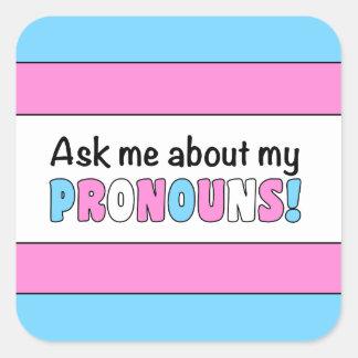 Adesivo Quadrado Etiqueta quadrada dos pronomes (orgulho do