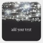 Etiqueta quadrada Sparkling das estrelas Adesivo Em Forma Quadrada