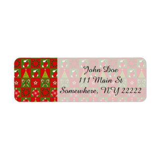 Etiqueta Quadrados decorativos do feriado