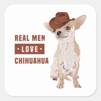 Etiqueta real da chihuahua do amor dos homens