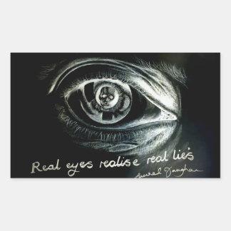 Etiqueta real do olho