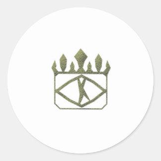 Etiqueta real do ouro