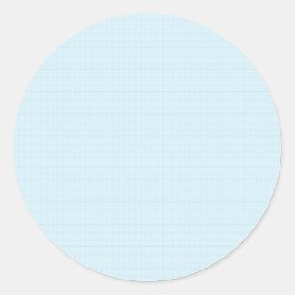 Etiqueta redonda clássica AZUL DE CRISTAL