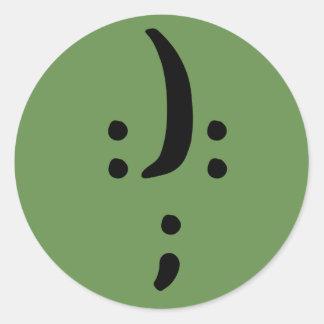 Etiqueta redonda clássica da consciência bipolar,