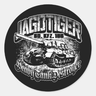 Etiqueta redonda clássica da etiqueta de JAGDTIGER