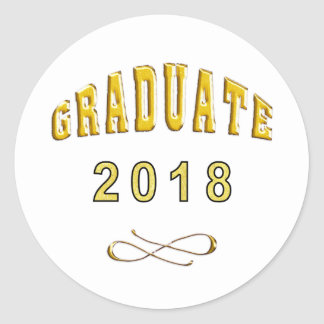 Etiqueta redonda clássica da graduação para 2018