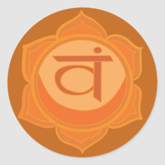 Etiqueta redonda clássica de Svadhisthana Chakra,