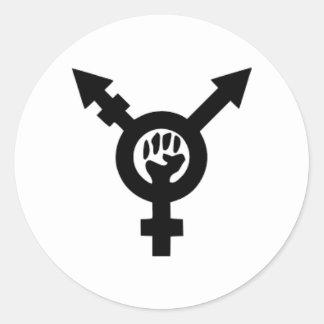 Etiqueta redonda clássica do símbolo feminista