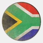 Etiqueta redonda com a bandeira legal de África do Adesivos Redondos