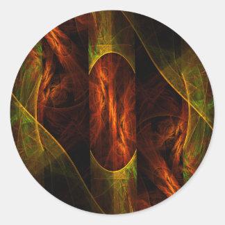 Etiqueta redonda da arte abstracta da selva da adesivo