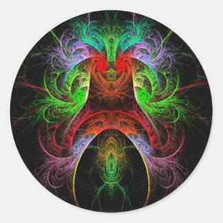 Etiqueta redonda da arte abstracta de Carnaval Adesivos Em Formato Redondos