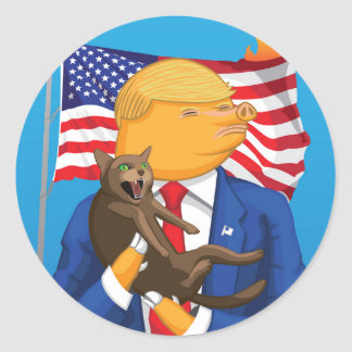 Etiqueta redonda da catástrofe americana