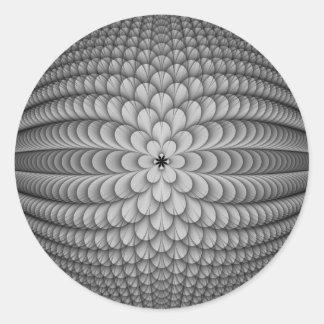 Etiqueta redonda da esfera monocromática