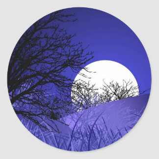 Etiqueta redonda da Lua cheia Adesivo