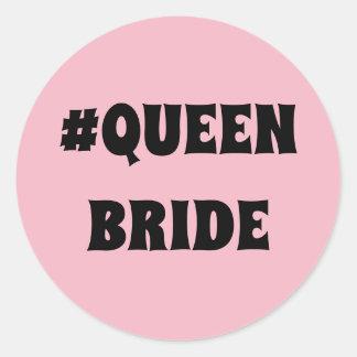 Etiqueta redonda da noiva da rainha