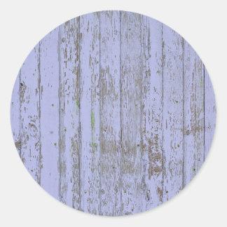 Etiqueta redonda da textura de madeira do falso da adesivo