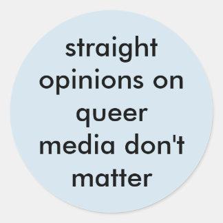 Etiqueta redonda das opiniões retas