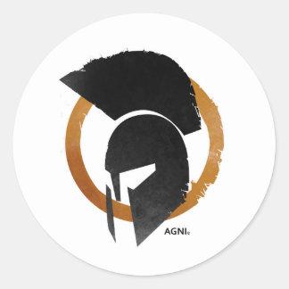 Etiqueta redonda de AGNI