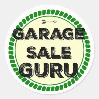 Etiqueta redonda de Guru da venda de garagem Adesivo