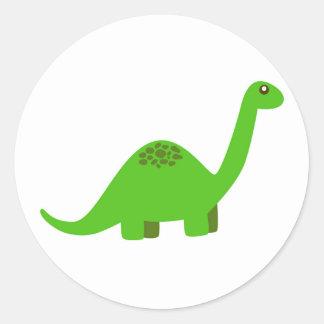 Etiqueta redonda do dinossauro adesivo