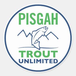 Etiqueta redonda do logotipo de Pisgh a Turquia