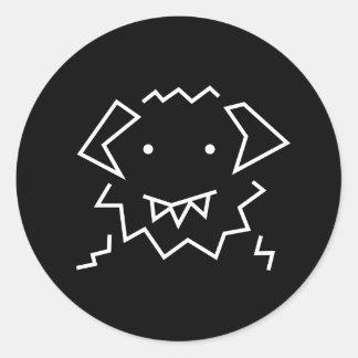 Etiqueta redonda do logotipo simples de