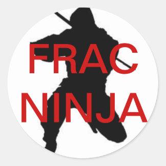 etiqueta redonda do ninja do frac