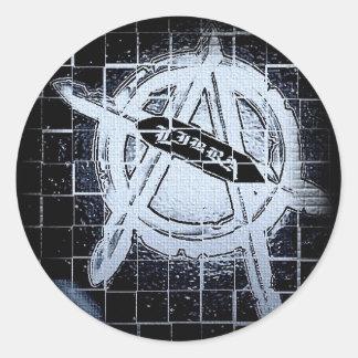 Etiqueta redonda do pára-choque/janela do Libra Adesivo