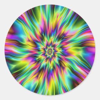 Etiqueta redonda do Supernova psicadélico