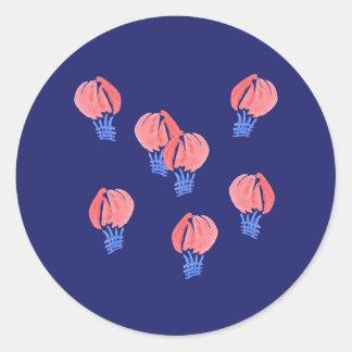 Etiqueta redonda lustrosa dos balões de ar grande