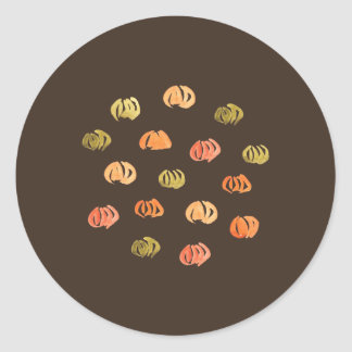 Etiqueta redonda lustrosa pequena da abóbora