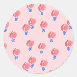 Etiqueta redonda lustrosa pequena dos balões de ar