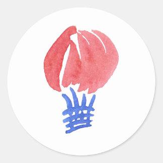 Etiqueta redonda Matte pequena do balão de ar