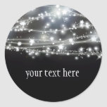 Etiqueta redonda Sparkling das estrelas Adesivos Redondos