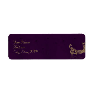 Etiqueta Regência do pavão no roxo